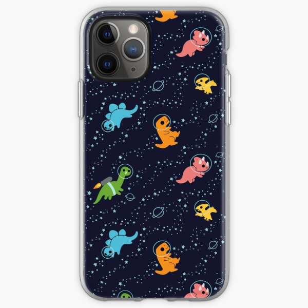 Dinosaurs In Space iPhone Soft Case