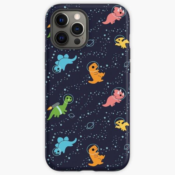 Dinosaurios en el espacio Funda resistente para iPhone