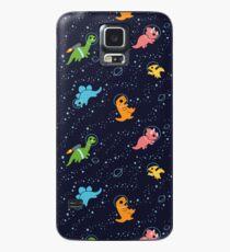 Dinosaurier im Weltraum Hülle & Klebefolie für Samsung Galaxy