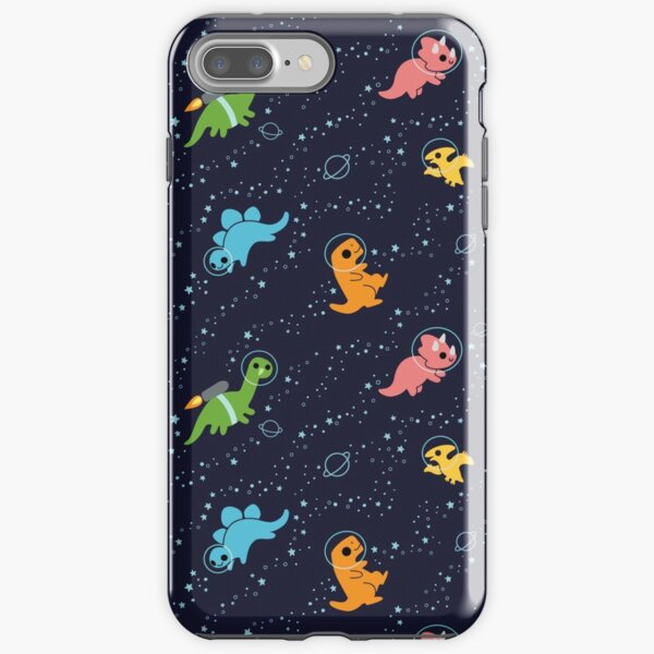 Dinosaurs In Space iPhone Tough Case