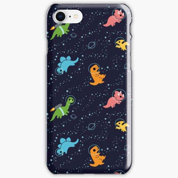 Dinosaurios en el espacio Funda rígida para iPhone