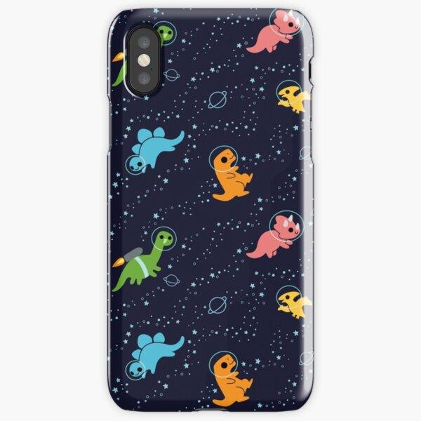 Dinosaures dans l'espace Coque rigide iPhone