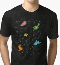 Dinosaurs In Space Tri-blend T-Shirt