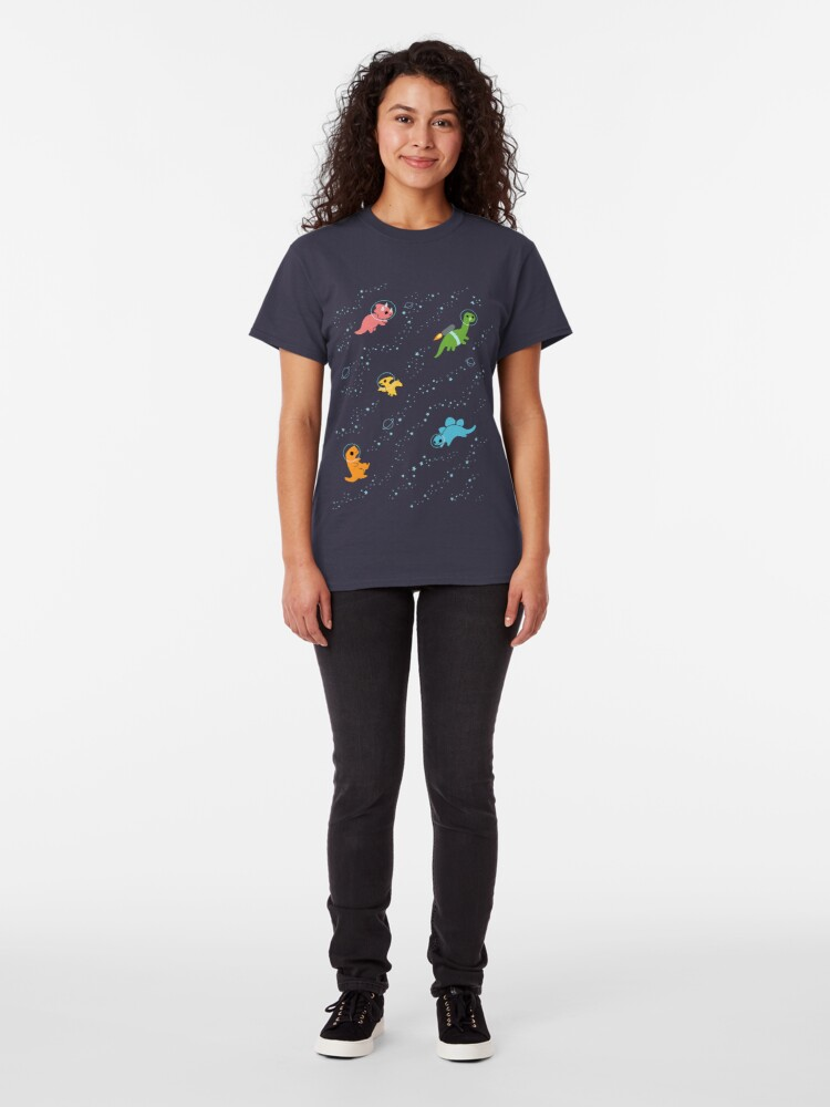 Alternate view of Dinosaurs In Space Classic T-Shirt
