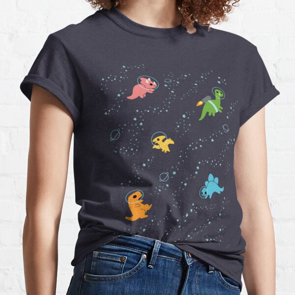 Dinosaurs In Space Classic T-Shirt
