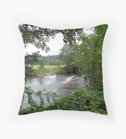 The River Esk at Glaisdale Throw Pillow