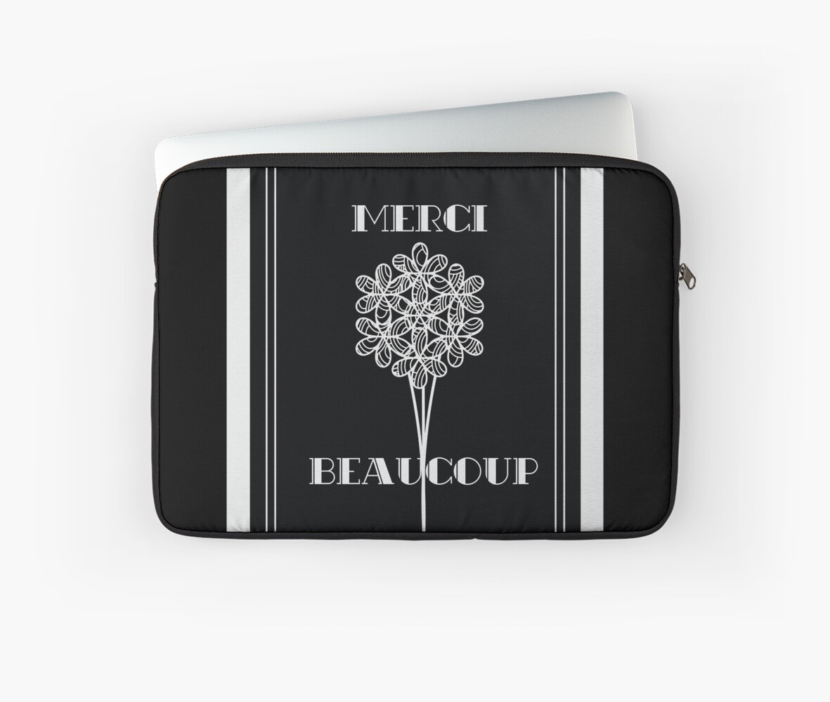 Merci Beaucoup in Art Deco Style  by CecelyBloom