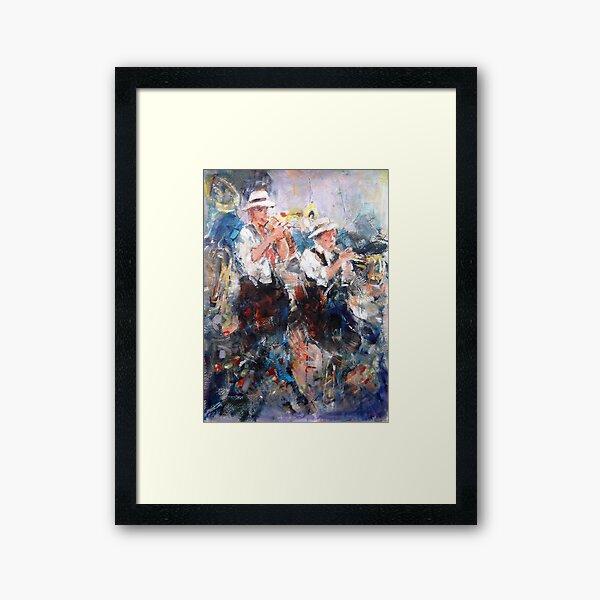 Jazz Musicians - Let's Liven It Up! Framed Art Print