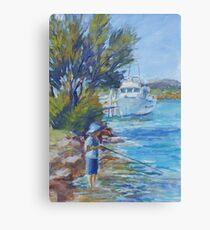 Will fishing Canvas Print