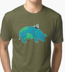 DISCOVERY PIG Tri-blend T-Shirt