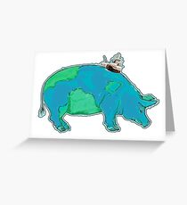 DISCOVERY PIG Greeting Card