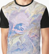 Bright Watercolor Marbled Pattern  Graphic T-Shirt