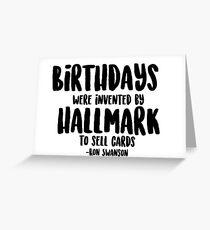 Geburtstag - Ron Swanson Zitat Grußkarte