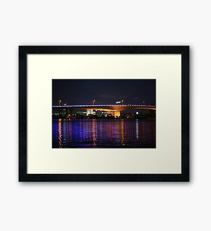 DOWNTOWN AT NIGHT Framed Print