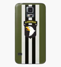 D-Day Streifen mit 101st Airborne Patch Hülle & Klebefolie für Samsung Galaxy