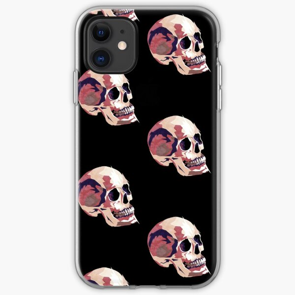 Skull pink Halloween iPhone Soft Case