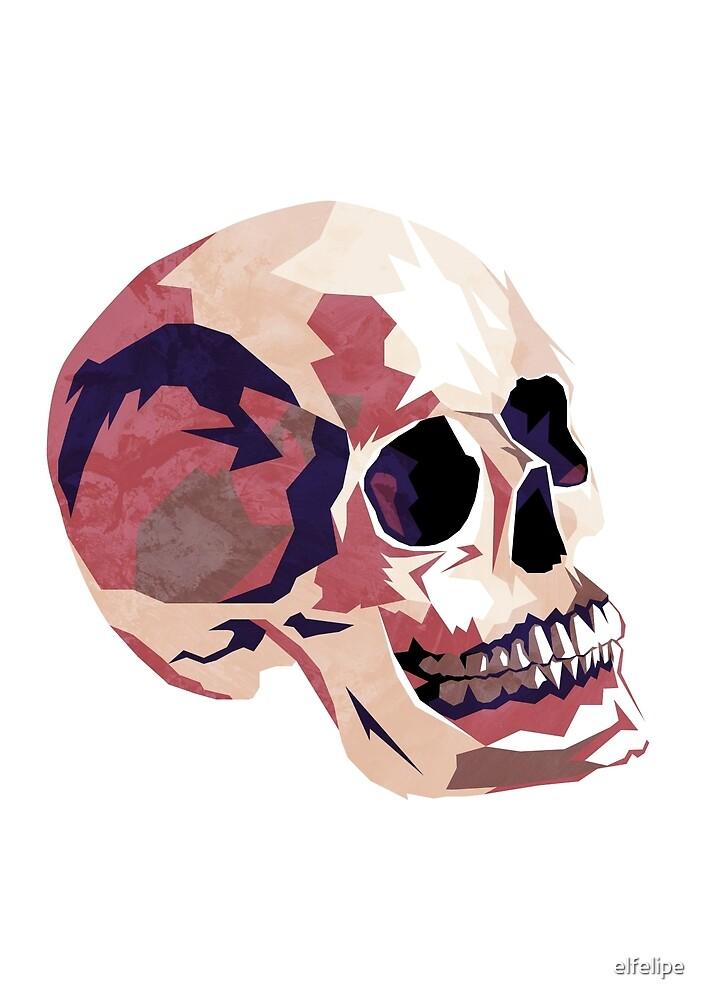 Skull pink Halloween by elfelipe