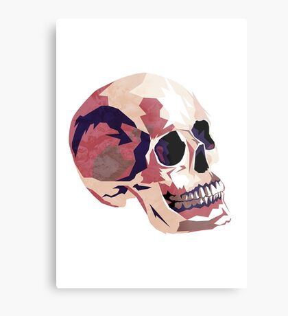 Skull pink Halloween Metal Print