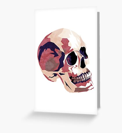Skull pink Halloween Greeting Card