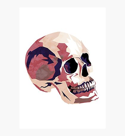 Skull pink Halloween Photographic Print