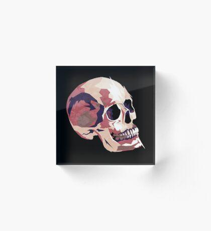 Skull pink Halloween Acrylic Block