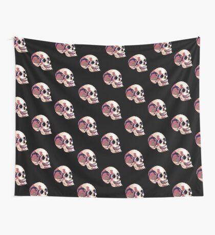 Skull pink Halloween Wall Tapestry