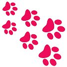 Cat Paws - Hot Pink by catloversaus