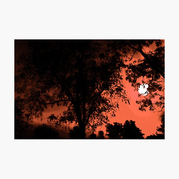Spooky Moon Rise Photographic Print