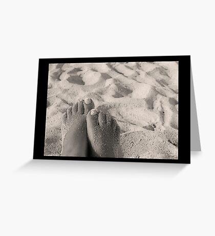 Sandy Feet Greeting Card