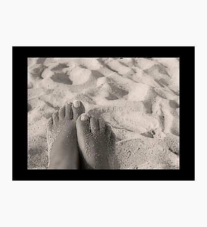 Sandy Feet Photographic Print