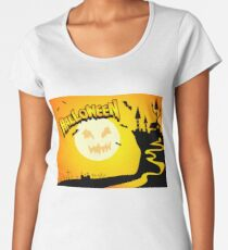 Halloween witches and demons Women's Premium T-Shirt