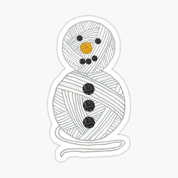 Yarny Snowman Sticker