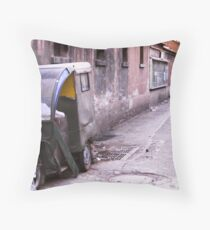 Trike in Hutong Throw Pillow