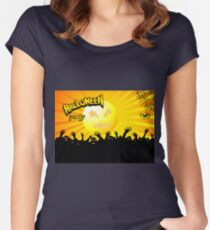 Zombies to attack on Halloween night Women's Fitted Scoop T-Shirt
