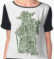 Fear is the Path to Darkside typography design Chiffon Top