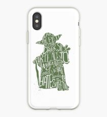 Fear is the Path to Darkside typography design iPhone Case