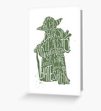 Fear is the Path to Darkside typography design Greeting Card