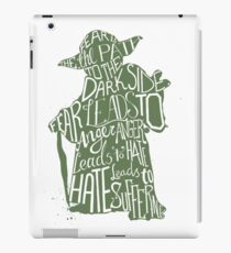 Fear is the Path to Darkside typography design iPad Case/Skin