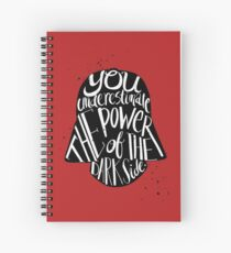 you under estimate the power typography  Spiral Notebook
