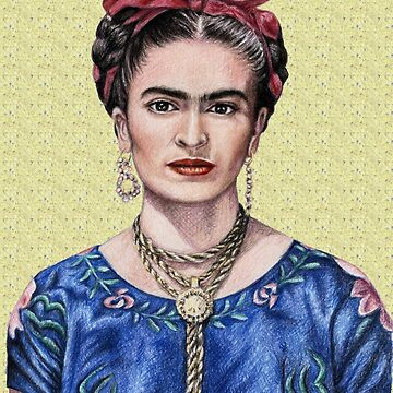 Portrait Frida Kahlo golden yellow - yellow by ArtsandDogs