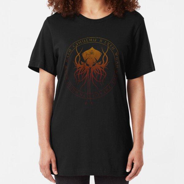 Cthulhu Sigil (hellfire) Slim Fit T-Shirt