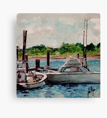 Behind the Fish Market Canvas Print
