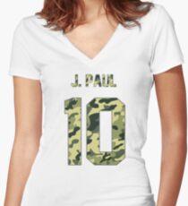 Jake Paul - Team 10 (Camo) Women's Fitted V-Neck T-Shirt