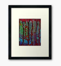 teal blood Framed Print