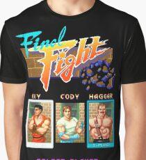 Final Fight Arcade Pixel Graphic T-Shirt