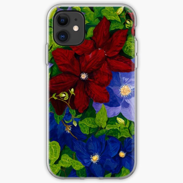 Morning Clematis iPhone Soft Case