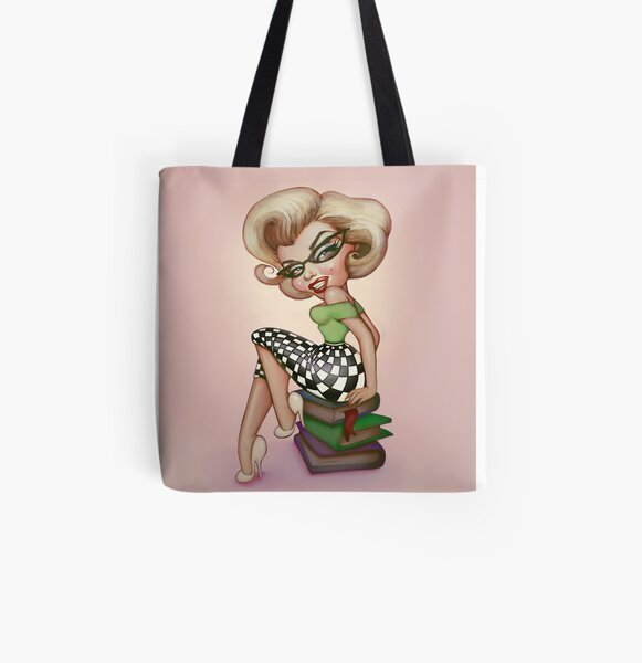 MarilynGeek - Pink - No text All Over Print Tote Bag