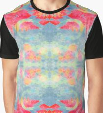 Red and blue: monoprinted pattern  Graphic T-Shirt