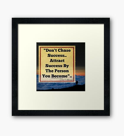 ATTRACT SUCCESS Framed Print