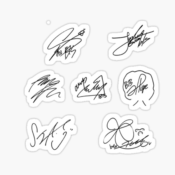 BTS SIGNATURES Sticker